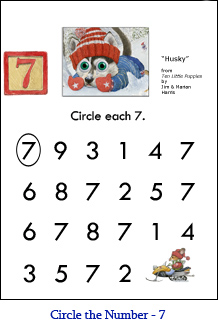 Circle the Number Worksheets