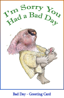 'I'm Sorry You Had a Bad Day' Greeting Card featuring Mort the Koala from The Trouble With Cauliflower.