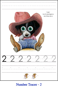 Dog Number Tracer Two – Rodeo Border Collie