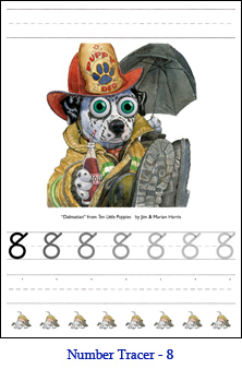 Dog Number Tracer Eight – Dalmation Fire-House Mascot