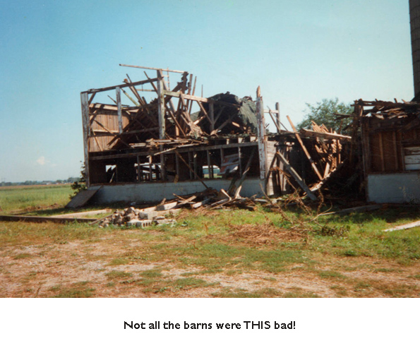 The barn that collapsed.