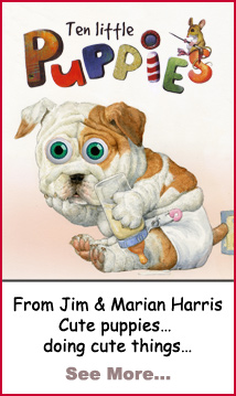 Ten Little Puppies… a new children's book by Jim & Marian Harris.