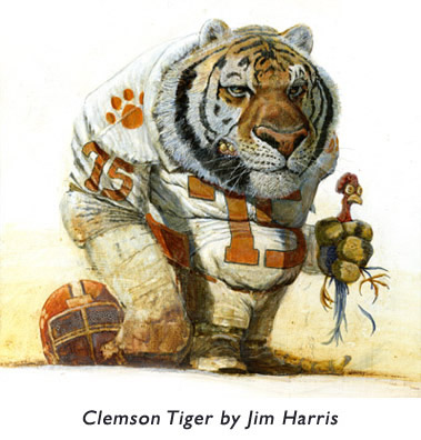 Clemson Tiger One Jim Early Illustrations Using